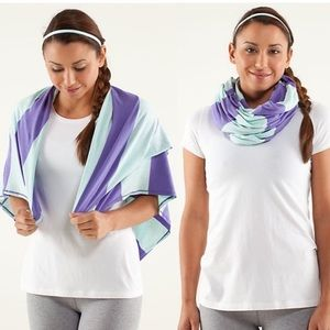 Lululemon Clarity Scarf- Stripe Heathered Purple